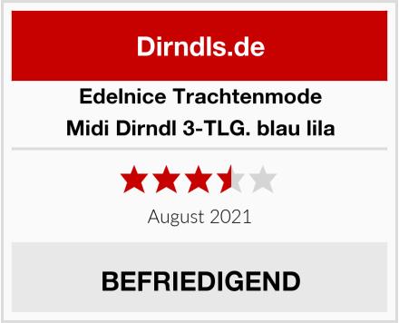 Edelnice Trachtenmode Midi Dirndl 3-TLG. blau lila Test