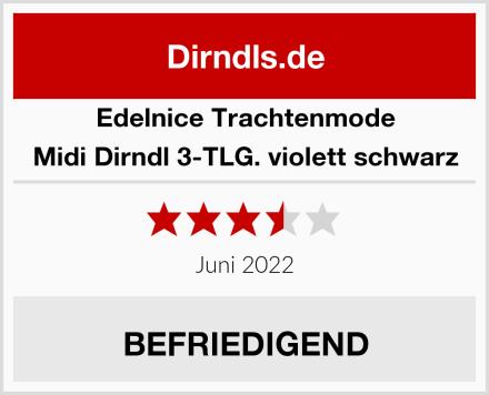 Edelnice Trachtenmode Midi Dirndl 3-TLG. violett schwarz Test