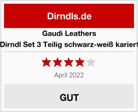 Gaudi-Leathers  Dirndl Set 3 Teilig schwarz-weiß kariert Test