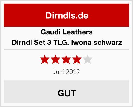 Gaudi-Leathers  Dirndl Set 3 TLG. Iwona schwarz Test