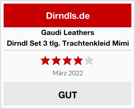 Gaudi Leathers Dirndl Set 3 tlg. Trachtenkleid Mimi Test