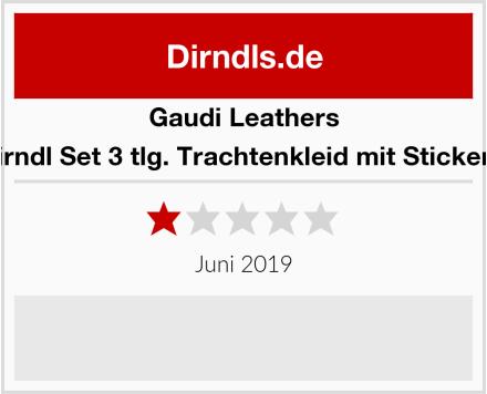 Gaudi-Leathers  Dirndl Set 3 tlg. Trachtenkleid mit Stickerei Test