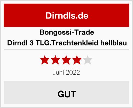 Bongossi-Trade Dirndl 3 TLG.Trachtenkleid hellblau Test