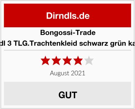 Bongossi-Trade Dirndl 3 TLG.Trachtenkleid schwarz grün kariert Test