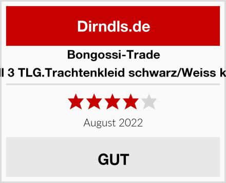 Bongossi-Trade Dirndl 3 TLG.Trachtenkleid schwarz/Weiss kariert Test