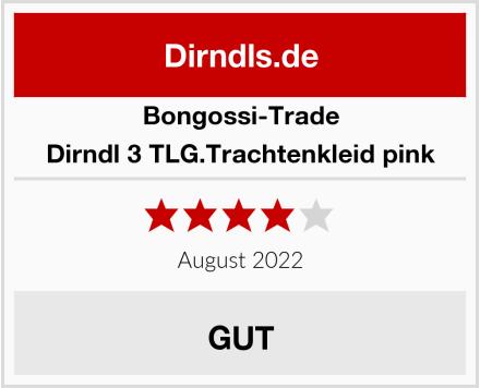 Bongossi-Trade Dirndl 3 TLG.Trachtenkleid pink Test
