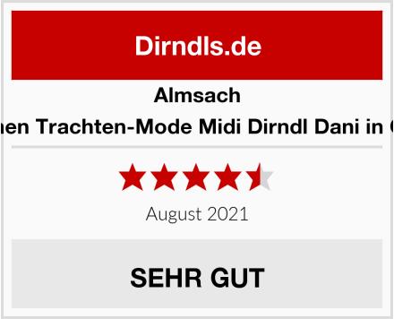 Almsach Damen Trachten-Mode Midi Dirndl Dani in Grau Test