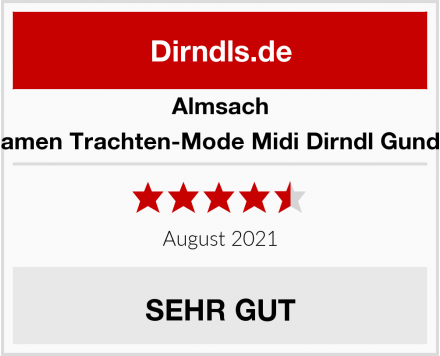 Almsach Damen Trachten-Mode Midi Dirndl Gundel Test