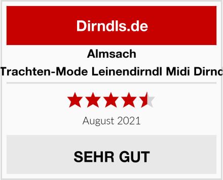 Almsach Damen Trachten-Mode Leinendirndl Midi Dirndl Malina Test