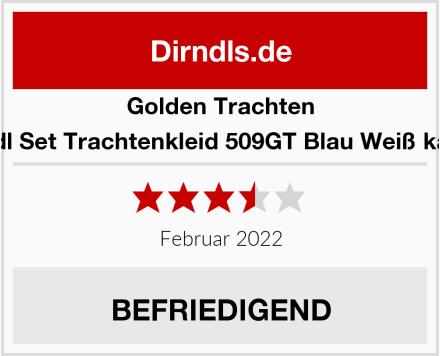 Golden Trachten Dirndl Set Trachtenkleid 509GT Blau Weiß kariert Test