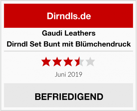 Gaudi-Leathers  Dirndl Set Bunt mit Blümchendruck Test