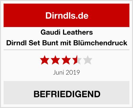 Gaudi Leathers Dirndl Set Bunt mit Blümchendruck Test