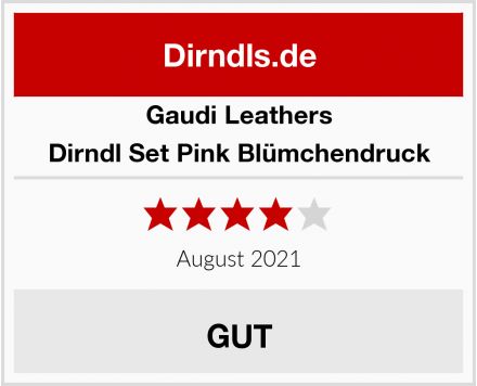 Gaudi Leathers Dirndl Set Pink Blümchendruck Test