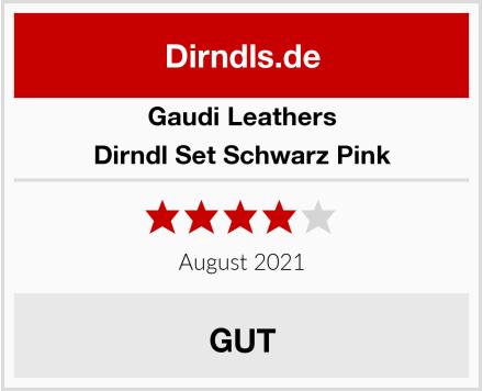 Gaudi Leathers Dirndl Set Schwarz Pink Test