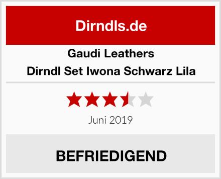 Gaudi Leathers Dirndl Set Iwona Schwarz Lila Test