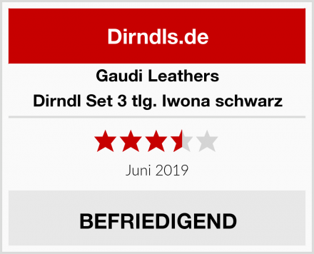 Gaudi Leathers Dirndl Set 3 tlg. Iwona schwarz Test
