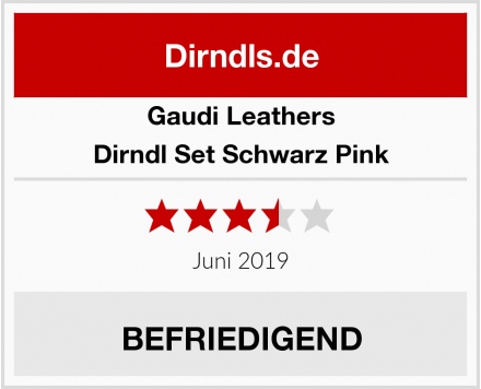 Gaudi-Leathers  Dirndl Set Schwarz Pink Test