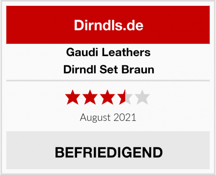 Gaudi-Leathers  Dirndl Set Braun Test