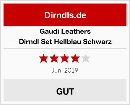 Gaudi Leathers Dirndl Set Hellblau Schwarz Test