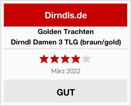 Golden Trachten Dirndl Damen 3 TLG (braun/gold) Test