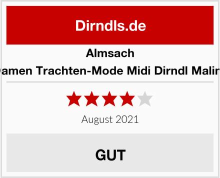 Almsach Damen Trachten-Mode Midi Dirndl Malina Test