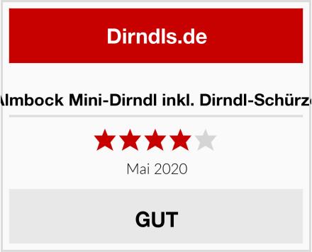 Almbock Mini-Dirndl inkl. Dirndl-Schürze Test