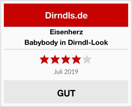 Eisenherz Babybody in Dirndl-Look Test