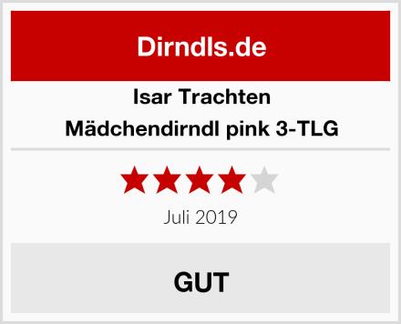 Isar Trachten Mädchendirndl pink 3-TLG Test