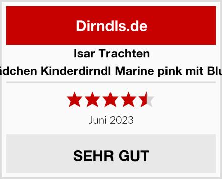 Isar Trachten Mädchen Kinderdirndl Marine pink mit Bluse Test