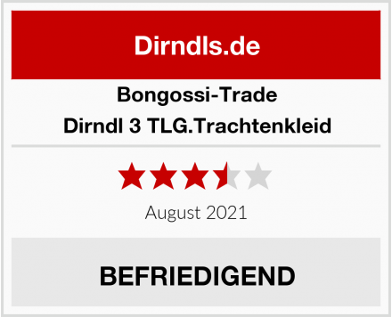 Bongossi-Trade Dirndl 3 TLG.Trachtenkleid Test