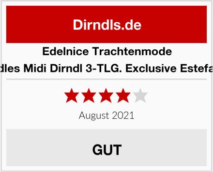 Edelnice Trachtenmode Edles Midi Dirndl 3-TLG. Exclusive Estefani Test