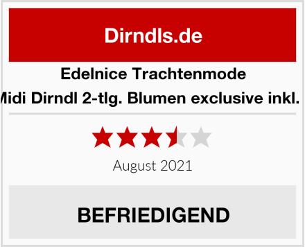 Edelnice Trachtenmode Edles Midi Dirndl 2-tlg. Blumen exclusive inkl. Spitzen Test