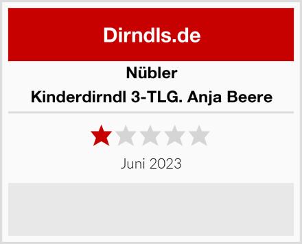 Nübler Kinderdirndl 3-TLG. Anja Beere Test