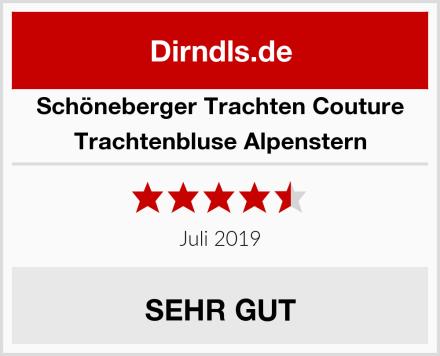 Schöneberger Trachten Couture Trachtenbluse Alpenstern Test