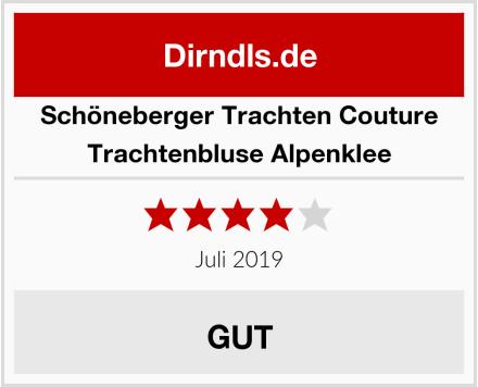 Schöneberger Trachten Couture Trachtenbluse Alpenklee Test