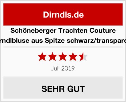 Schöneberger Trachten Couture Dirndlbluse aus Spitze schwarz/transparent Test