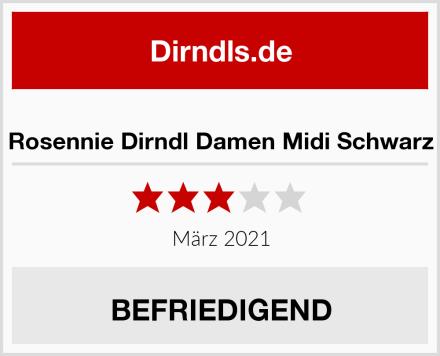 Rosennie Dirndl Damen Midi Schwarz Test