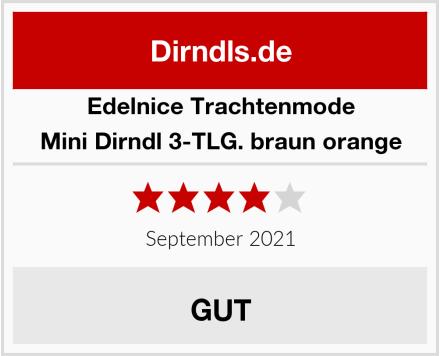 Edelnice Trachtenmode Mini Dirndl 3-TLG. braun orange Test