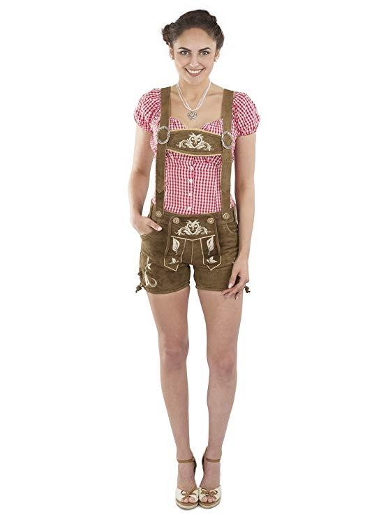 Schöneberger Trachten Couture Damen Lederhosen kurz