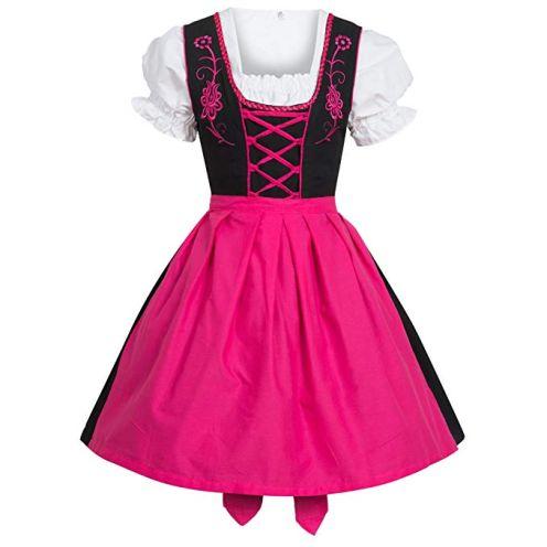 Gaudi Leathers Dirndl Set Schwarz Pink