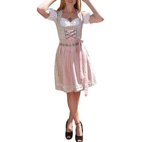 Golden Trachten Kleid Dirndl Damen 3 TLG