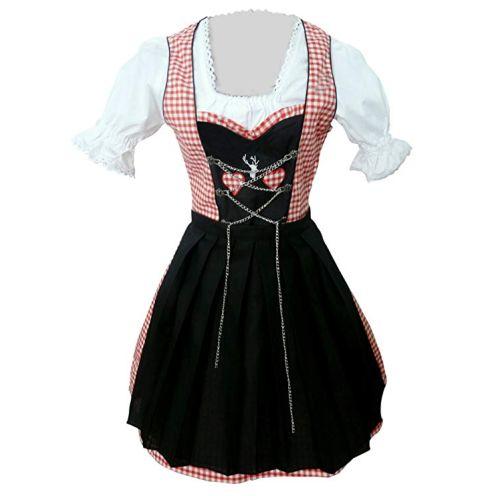 Seruna Dirndl Vdi08 Dirndl (schwarz/rosa)